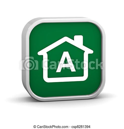 建物, 効率, エネルギー, 分類 - csp8281394