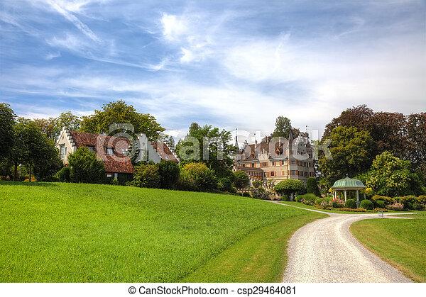 建物, 古い, 絵のよう, 公園, スイス人, europe. - csp29464081
