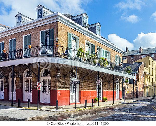 建物, 四分の一, 歴史的, フランス語 - csp21141890