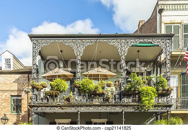 建物, 四分の一, 歴史的, フランス語 - csp21141825