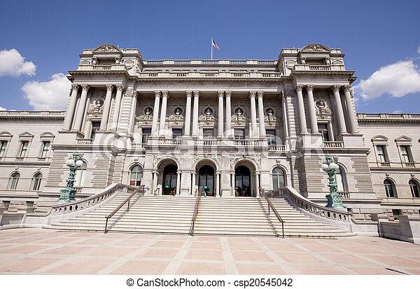 建物, 図書館, washington d.c., 議会 - csp20545042