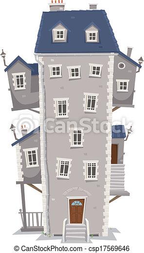 建物, 家, 高い, 大きい - csp17569646
