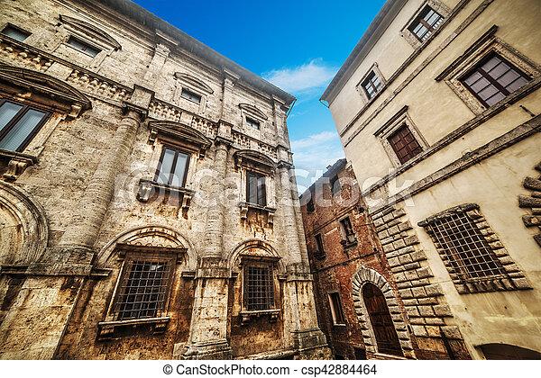 建物, 歴史的, montepulciano - csp42884464