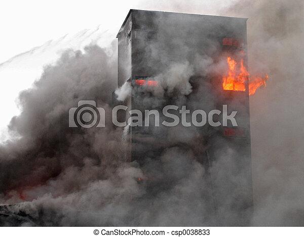 建物, 燃焼 - csp0038833