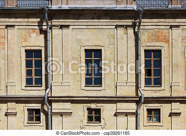 建物, 窓, 歴史的, 建築である - csp39261165