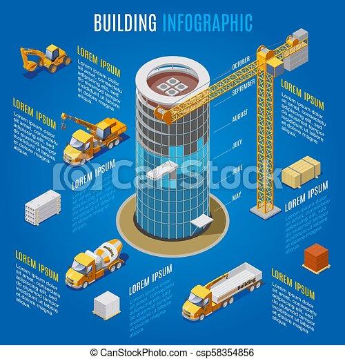 建物, 等大, 概念, 現代, infographic - csp58354856