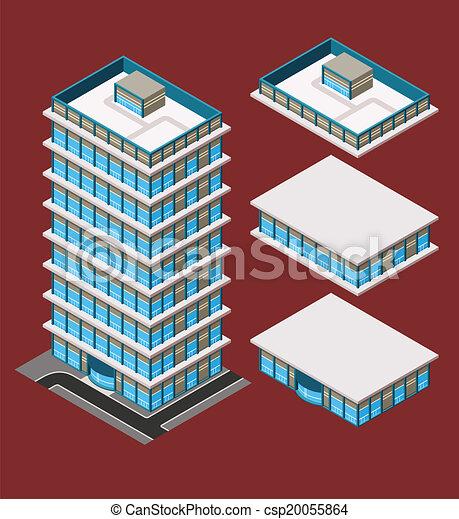 建物, 等大, 現代 - csp20055864