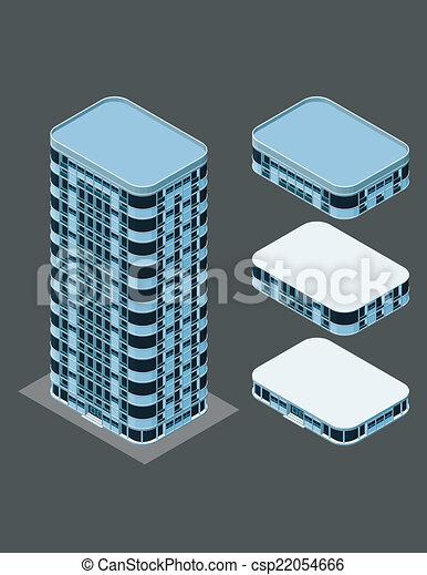 建物, 等大, 現代 - csp22054666