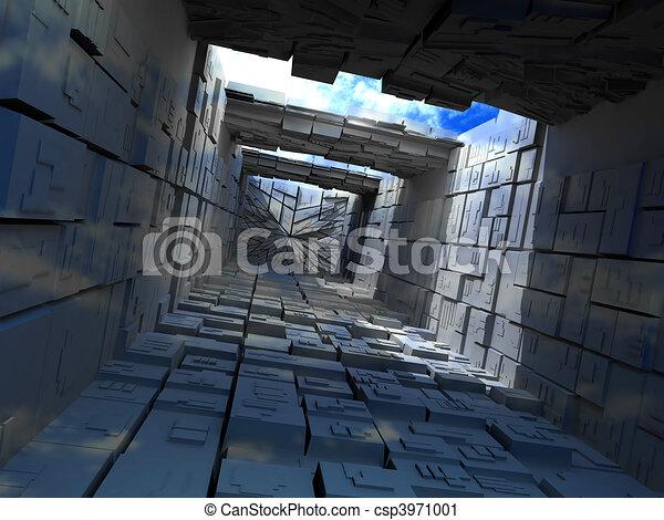 建物, 箱, abstrac - csp3971001