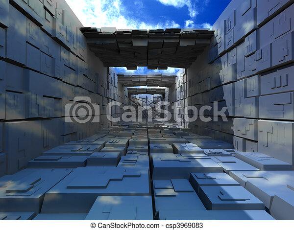 建物, 箱, abstrac - csp3969083