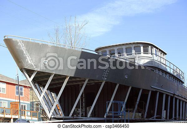 建物, 船, backyard. , csp3466450