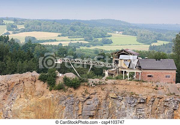 建物, 鉱山, 産業, 採石場, 背景, 花こう岩 - csp4103747