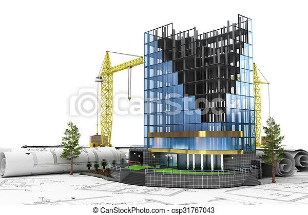建物, 開発, 抽象的な 概念, 3d - csp31767043