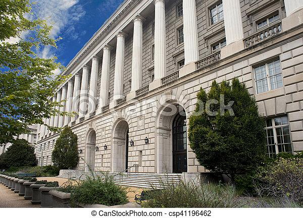 建物, dc., irs, ワシントン - csp41196462