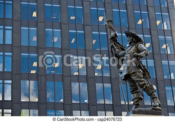 建物, de, 像, mo, 現代, chomedey, 背景, ポール - csp24076723
