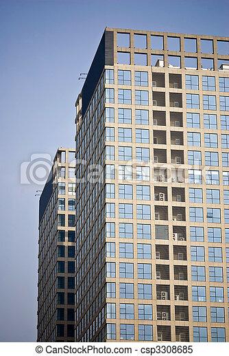 建物, highrise - csp3308685