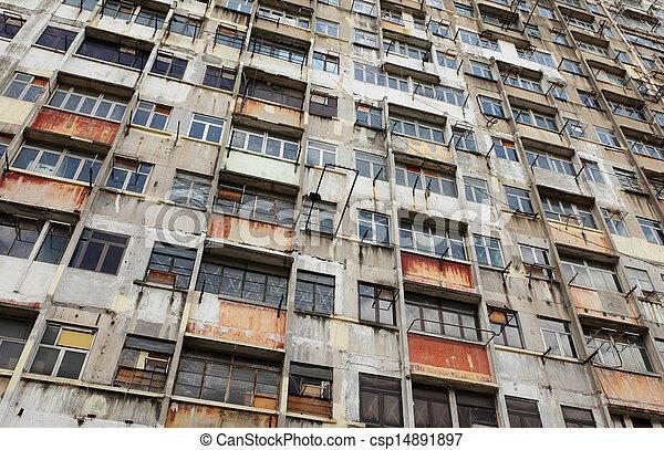 建物, hong, 捨てられた, kong - csp14891897