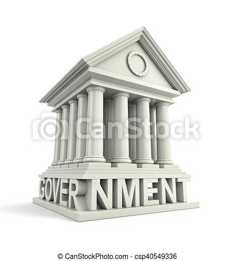 建物, icon., 政府, イラスト, 3d - csp40549336