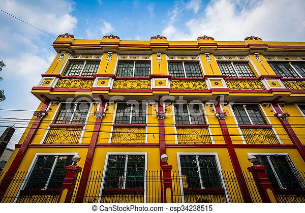 建物, intramuros, 歴史的, マニラ, フィリピン。 - csp34238515