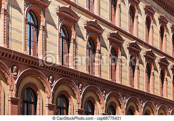 建物, postfuhramt, 歴史的, ベルリン, 歴史的, 外面, ファサド - csp68775431