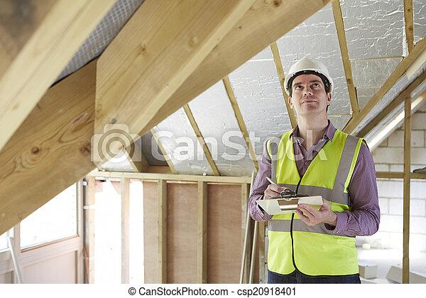 建筑物, 看, 检查员, 财产, 新 - csp20918401