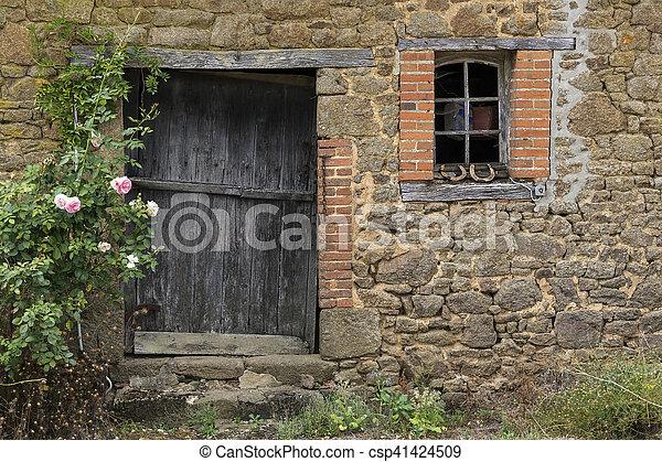 建筑物, 老, 农场, -, 建筑学, 乡村 - csp41424509
