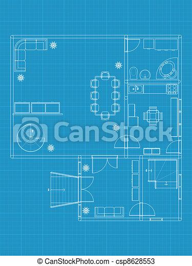 建筑物, 蓝图 - csp8628553