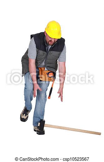 建築作業員, 事故 - csp10523567
