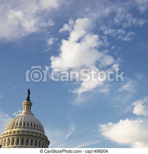 建築物, dome., 州議會大廈 - csp1499204