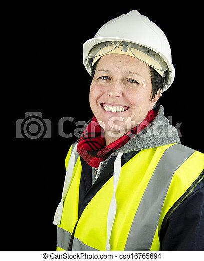 建築者, 女性 - csp16765694