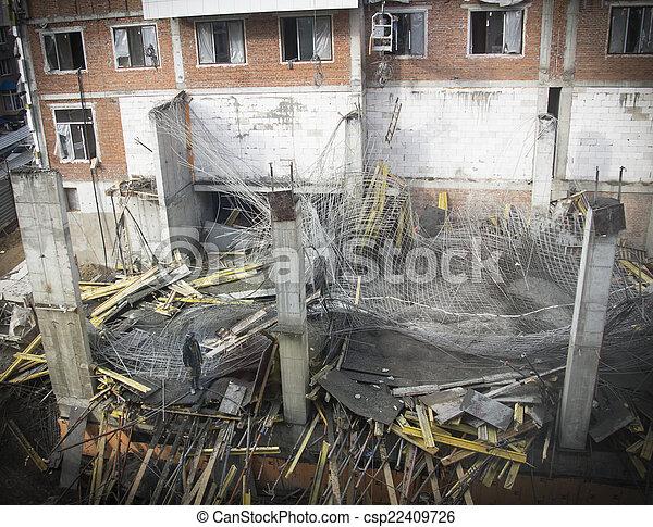 建設, 事故, 崩壊, サイト - csp22409726