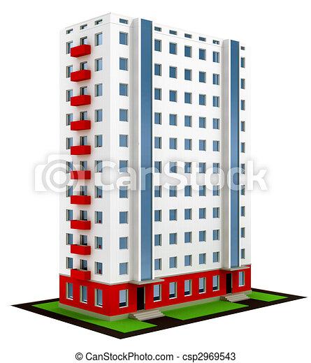 建設, 家, 終えられた, 現代, 新しい - csp2969543