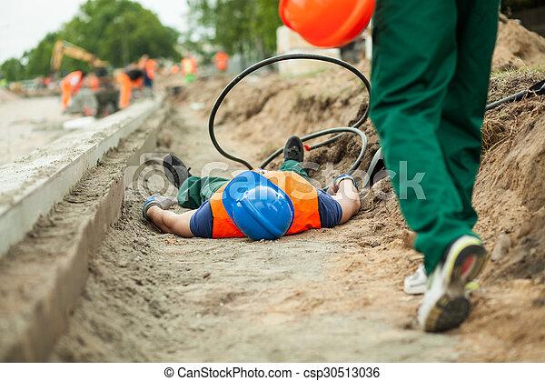 建設, 道 事故 - csp30513036