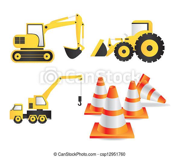 建设, 图标 - csp12951760