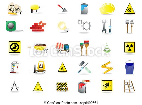 建设, 图标 - csp6490661