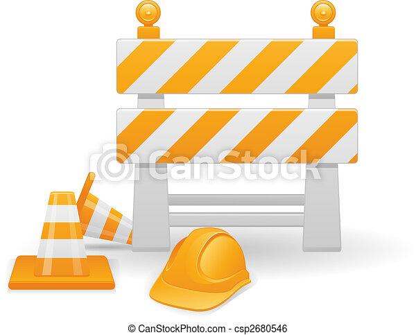 建设, 形象, 矢量, 在下面 - csp2680546
