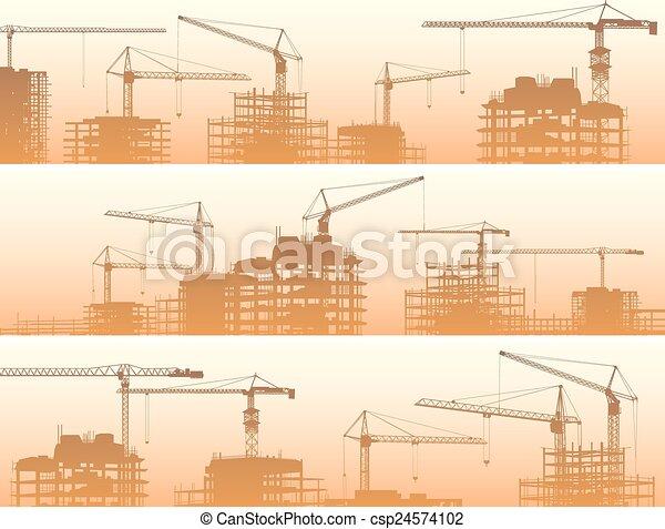 建设, cranes., 站点 - csp24574102