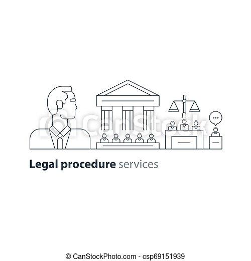 弁護士, 法廷, 専門家, 家, アイコン, 法的, 裁判, advocacy, 弁護士, サービス, 人 - csp69151939