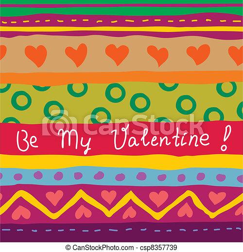 引かれる, 手, カード, バレンタイン - csp8357739