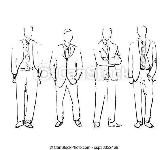 引かれる, 手, グループ, ビジネス 人々 - csp38322469