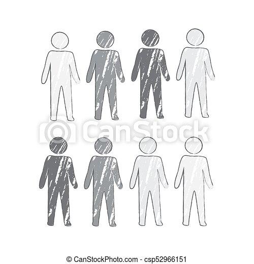 引かれる, 手, グループ, ビジネス 人々 - csp52966151