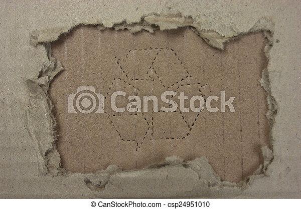 引き裂かれたペーパー - csp24951010