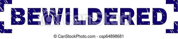 当惑させている, グランジ, 切手, コーナー, 中, シール, textured - csp64898681