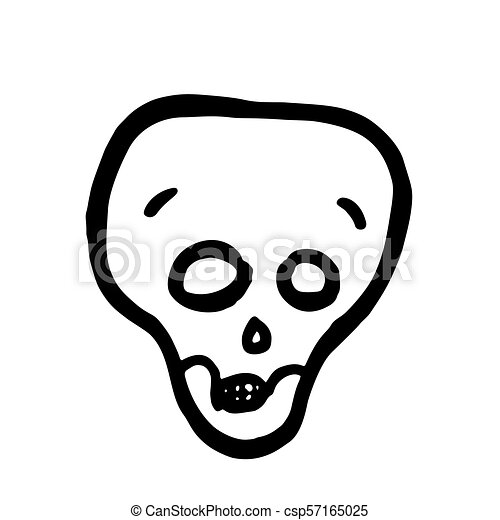 当惑させている, skull., ベクトル, ハロウィーン, 漫画 - csp57165025