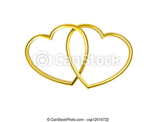 形づくられた心, リング, 金 - csp12019732