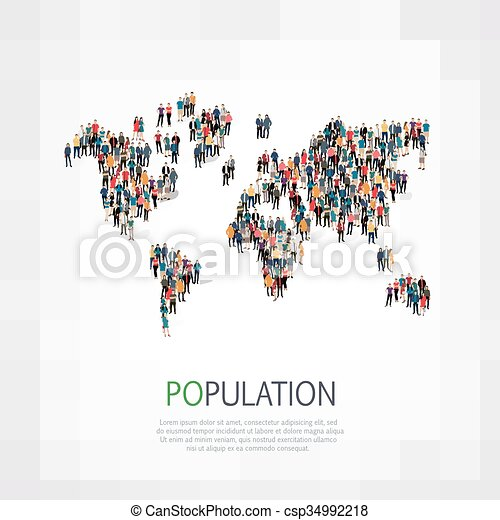 形状, 人们, 团体, 人口 - csp34992218