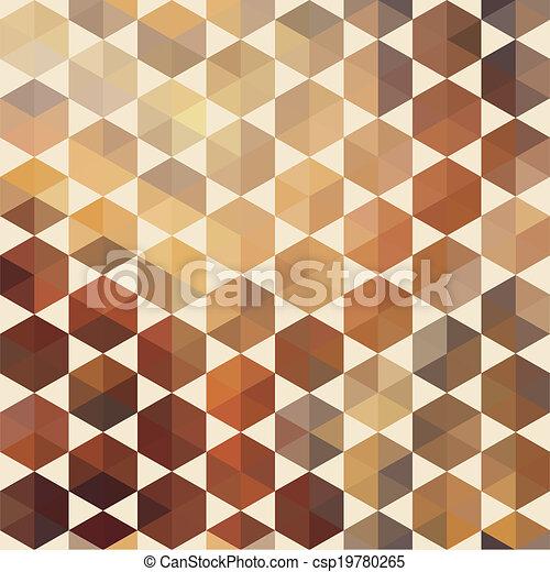 形狀, 圖案, 幾何學, 六角形, retro - csp19780265