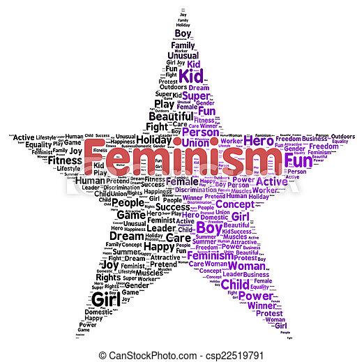 形, 単語, フェミニズム, 雲 - csp22519791