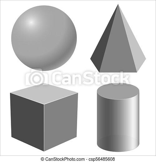 形, 現実的, 幾何学的 - csp56485608
