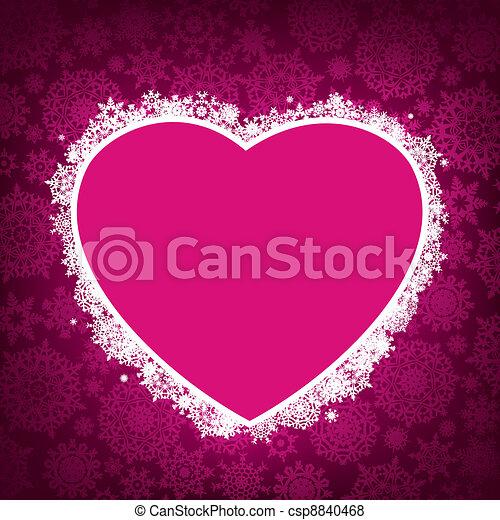 形, 8, フレーム, heart., eps - csp8840468